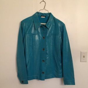 Jackets & Blazers - Bright Turquoise Jean Jacket